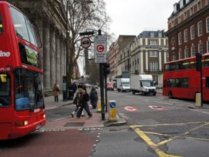 London's successes with congestion pricing demonstrates how such policies can be a powerful tool for curbing traffic, encouraging walking and cycling, and raising revenue to support public transit. Photo by mariordo59/Flickr.