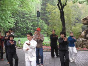 Public dancing in Beijing