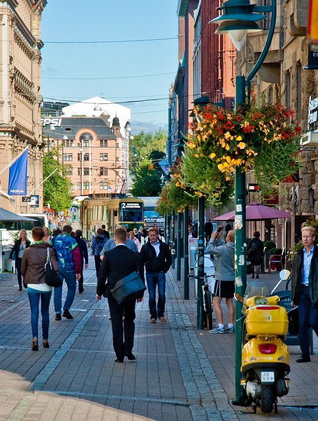 Walkability in Helsinki, Finland