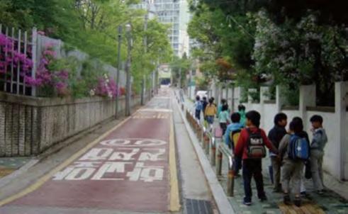 Children on a Street in Seoul