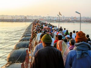 A spiritual gathering of millions of people in India, the Kumbh Mela can be considered a temporary urban environment and offers many fascinating insights for urbanists. Photo by AlGraChe/Flickr.
