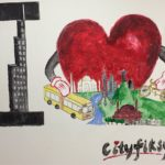 "TheCityFix's own mural: ""Cityfiksy"". Photo by Andrew Stokols."