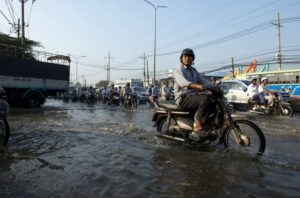 Ho Chi Minh City in Vietnam has partnered with Rotterdam in the Netherlands to learn from each other's experience and collaborate on a Climate Adaptation Strategy. Photo by BBC World Service/Flickr.