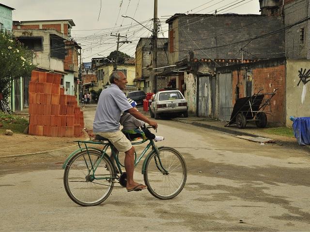 Biking in a Favela in Rio de Janeiro, Brazil