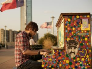 "The ""Play Me, I'm Yours"" project has reached more than 40 cities world wide, and continues to install pianos in urban communities. (Photo: Keegan Jones / Flickr)"