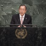 Secretary-General Ban Ki-moon addresses the United Nations at the United Nations Sustainable Development Summit in New York. (Photo: United Nations Photo/ Flickr)