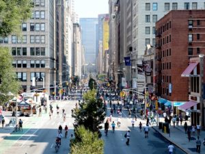 As COP21 tackles the issue of urban transport, decision makers should work to transform global and national goals into local, city-level actions. Photo by NYC DOT