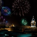 Fireworks go off in Cartagena, Colombia for New Year's Eve. Photo by Louis Vest/Flickr.