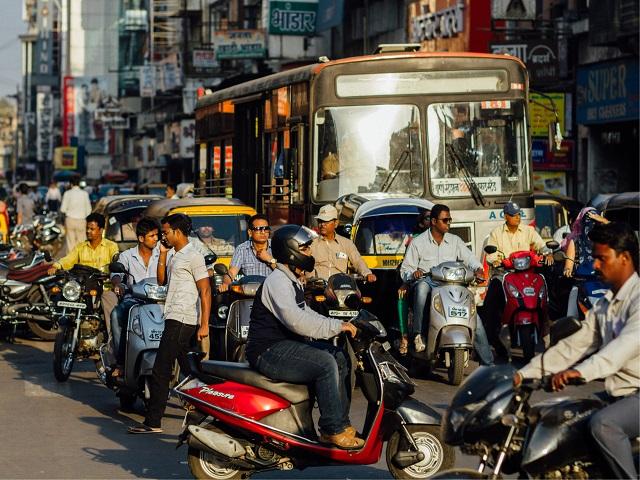 Traffic in Pune India
