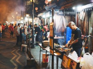Street food in Singapore. Photo by Peter Kirkeskov Rasmussen/Flickr.