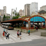 Buses at the Porto Alegre Central Market. Photo by Benoit Colin/WRI