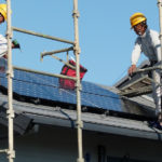 Installing rooftop solar panels in Shanghai, China. Photo by Jiri Rezac/The Climate Group