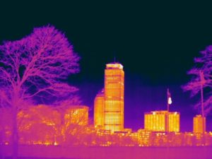 Thermal image of the city of Boston. Image courtesy of Essess