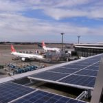 Airports around the world, including Bangalore's Kempegowda International Airport, are installing solar panels. Photo by Takashi M / Flickr