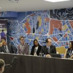 Amend Avi Silverman, Luis Antonio Lindau, Justin Mortensen, Kai Poswayo, Carlos Cuenca, Michelle Yeoh and Saul Billinsgley participate on a panel at Habitat III. Photo by Bruno Felin / WRI Brazil Sustainable Cities / Flickr