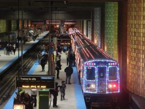 CTA Holiday Train in Chicago spreads holiday cheer each year. Photo by cta web / Flickr