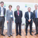 Representatives of Financing Sustainable Cities Initiative partners, from left: James Alexander, C40; Val Smith, Citi; Helio Lima Magalhães, Citi Brazil; Rodrigo Rosa, C40 and City of Rio de Janeiro; and Toni Lindau, WRI Brasil Sustainable Cities.