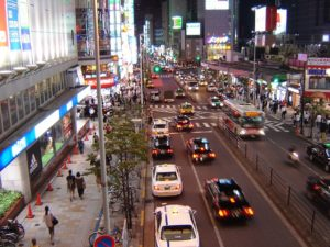 Traffic in Tokyo Reveals Narrow, Safe Traffic Lanes. Photo by Raphael Desrosiers / Flickr