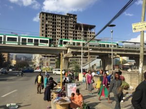 Addis Ababa Light Rail Train. Photo by Ben Welle / Flickr