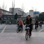 Chengdu, China encourages cycling and walking to mitigate air pollution from fossil fuels. Photo by Richy / Fickr