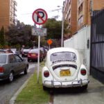 Cars Park Illegally in Colombia's Capital City, Bogota. Photo by Carlos Felipe Pardo / Flickr