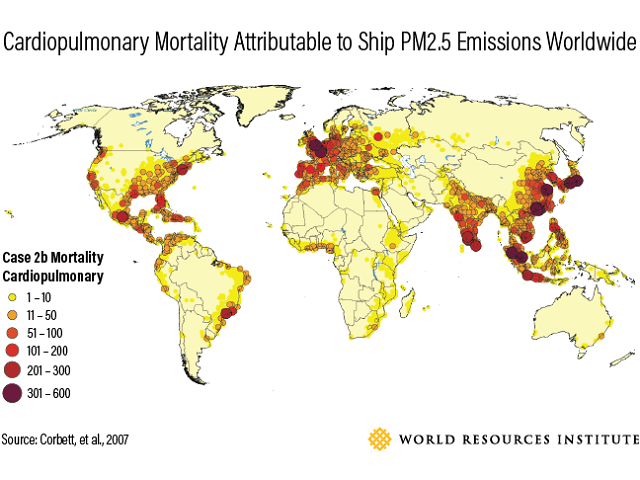 Chinas clean air challenge time to cut maritime pollution in 2013 ship emissions led to more than 24000 premature deaths in east asia with 18000 fatalities in mainland china alone freerunsca Gallery